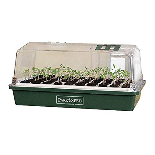 Park Seed Bio Dome Seed Starter Kit with 60 Cell Planting Block, Base Tray, Humidity Dome & 60 Bio Sponges