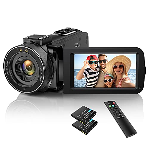 Video Camera Camcorder YouTube Camera for Vlogging Full HD 1080P 30FPS 36MP IR Night Vision 3.0 Inch...