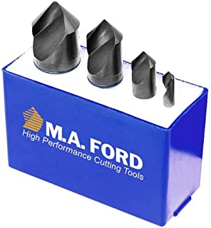 M.A. Ford 64100002 82° HSS Unfluted Countersink 4 Piece Set, 64006