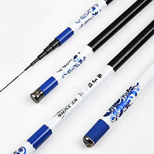 Goods-Store-uk Fishing Rods Wit Lange Stroom Rod-Blauw patroon 3,6 m 4,5 m 5,4 m 6,3 m 7,2 m carbon telescopische hengel