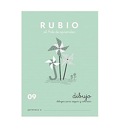 Rubio 09 - Caligrafía Escolar, Dibujos Para Seguir Y Colorear: Escritura 09 (Escritura RUBIO)