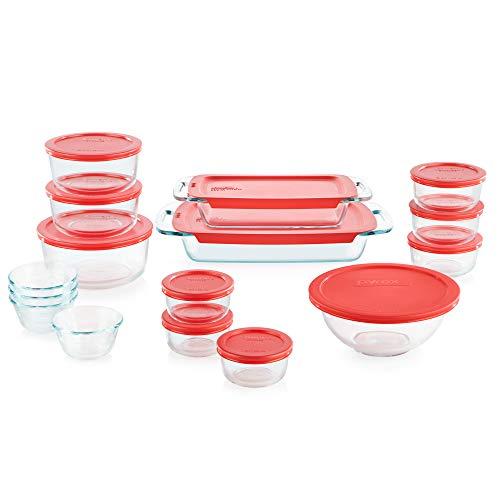 Pyrex Easy Grab Glass Bakeware and Food Storage Set (28-PieceBPA-free)