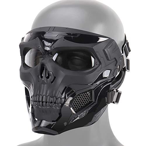 DETECH Paintball-Taktik Helm Schädel Masken Atmungsaktiv Schießen Jagd Masken Männer Vollgesichts Airsoft Military Halloween Party Maske