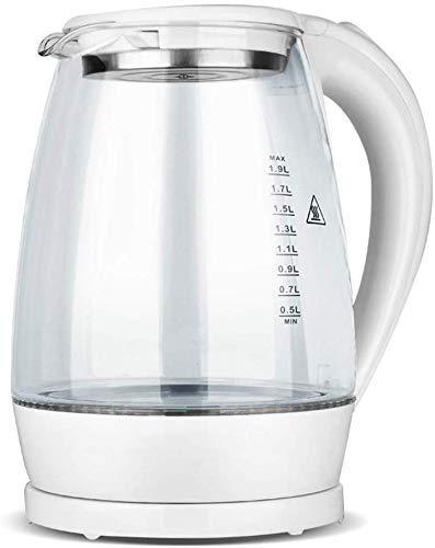 ZJN-JN Hervidor eléctrico portátil de cristal Hervidor Hervidor eléctrico Tetera rápida de calefacción de agua caliente de ebullición del pote del té de cristal azul claro de calefacción Calderas de a