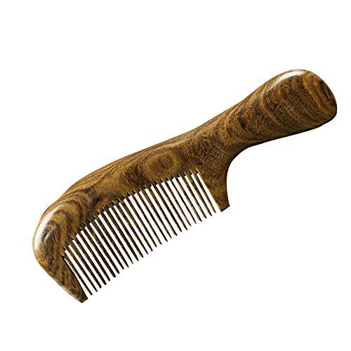 Roundwood hoofd kam antistatische Natuur Zwart Goud Sandaal Lange Haar Anti Haaruitval