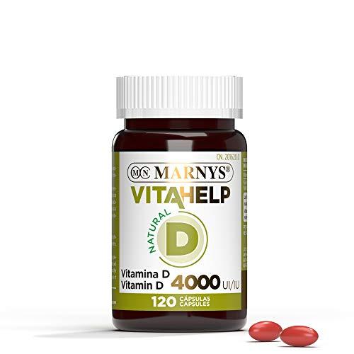 Marnys Vitahelp Vitamina D 4000 Ui - Perlas Para 4 Meses - Vitamina D Natural Colecalciferol - Estimula El Sistema Inmunitario 64 G, Nuetro, 120 Unidades