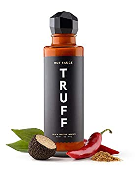 TRUFF Hot Sauce Gourmet Hot Sauce with Ripe Chili Peppers Black Truffle Oil Organic Agave Nectar Unique Flavor Experience in a Bottle 6 oz.
