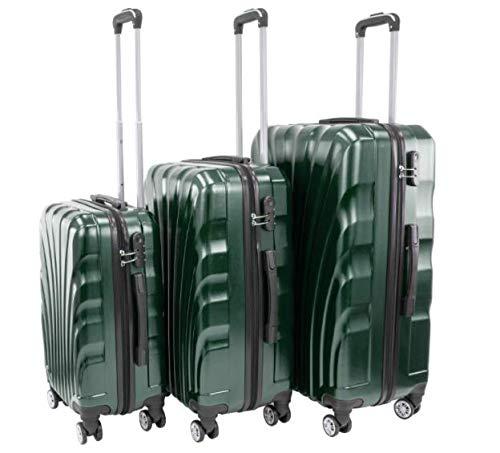 Juego de 3 maletas para cabina, de peso ligero, 4 ruedas giratorias, viaje de negocios, 20 cm, 24 cm, 28 cm