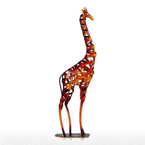 WUHUAROU Estatuilla de Metal Jirafa Trenzada de Hierro Vintage decoración del hogar artesanía de Jirafa Accesorios de decoración del hogar