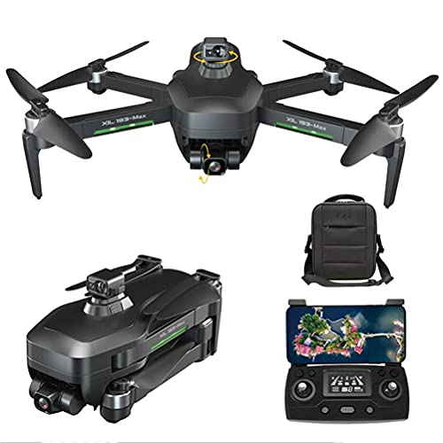 Drone Quadcopter UAV 5G WIFI FPV, Drones GPS con cámara de 4K HD para adultos, Drone GPS con Gimbal de 3 ejes, RC Drone 360DEG;Evitación automática de obstáculos, con 2 baterías 50x Zoom VR ex