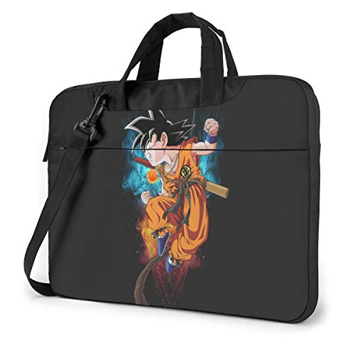13-15.6 Inch Convertible Laptop Crossbody Messenger Bag, Japanese Anime DBZ Kids Goku Work Bag with Adjustable Strap, Computer Carrying Case for Tablet Notebook
