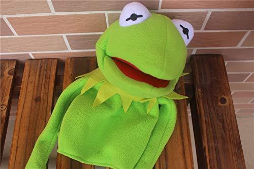 XKMY Marionetas de mano para mascotas New The Muppets Show Kermit Frog Miss Piggy Drummer Gonzo - Marioneta de mano (40 cm), color verde