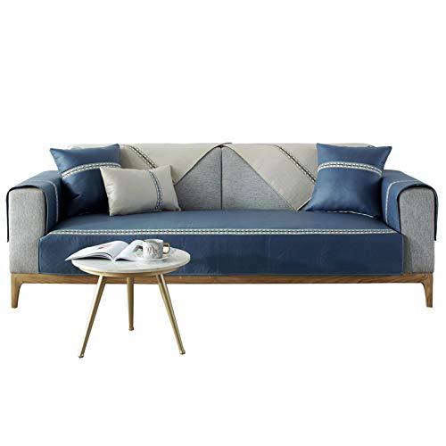 Jklt Funda de Sofá Práctica Cubierta DE CUJICIÓN DE Sofa Sofa DE Pet Simple Simple nórdico Regalo (Color : Blue, Size : 70x180cm)