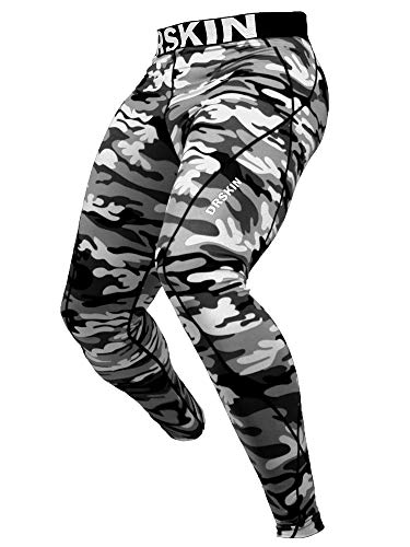 DRSKIN 1~3 Pack Men's Compression Pants Warm Dry Cool Sports Tights Baselayer Running Leggings Thermal ColdGear Winter (XL, DMGY02) Gray