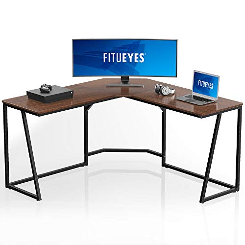 FITUEYES Corner Gaming Desk,L Shaped Computer Desk