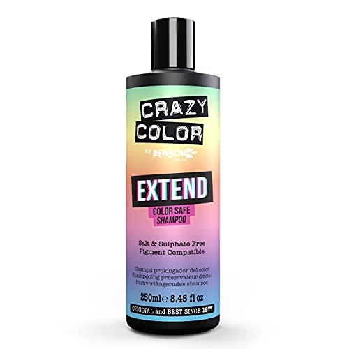 CRAZY COLOR Extend Color Safe Shampoo 250ML, Negro, Estandar, 250