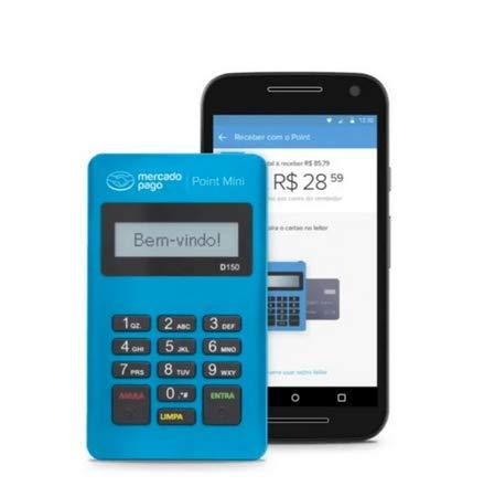 Maquininha Point Mini Do Mercado Pago PROMOÇÃO de 58,00 por 3,99,00R$- Envio Imediato