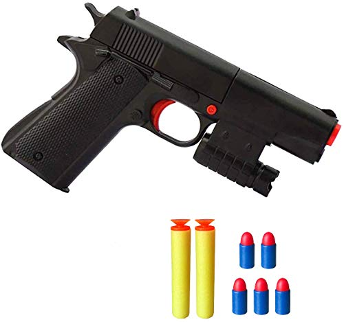 WAOOTUENTL Kid Toy Guns Classic m1911 Kids Colorful Cap Gun with Soft Bullets Teach Shooter and Gun Safety Real Dimensions Fun Outdoor Game