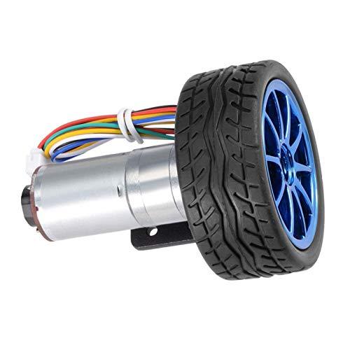 Kit de coche inteligente, rueda antideslizante de alta precisión estructura simple Motor de engranaje JGA25-371 Encoder Motor de engranaje para carro de logística (velocidad 1000)
