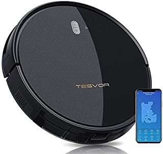 Tesvor Robot Vacuum Cleaner - 4000Pa Strong Suction Robot Vacuum, Alexa Voice and APP Control, Self-Charging Robotic Vacuu...