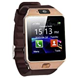 Styleflix Smartwatch Bluetooth with Camera Sim Card Supported, Health Fitness Tracker Smart Watch for Mens Boys and Girls (Golden)