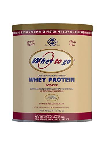 Solgar Whey To Go Proteína de suero en polvo (Sabor chocolate natural) 1162 g