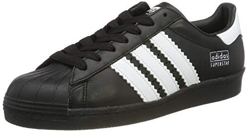 adidas Herren Superstar 80s Gymnastikschuhe, Schwarz (Core Black/FTWR White/Core Black Core Black/FTWR White/Core Black), 44 2/3 EU