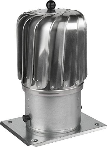 Schornsteinaufsatz drehbarer Kugelaufsatz Lüftung Ø 150mm Aluminium Kaminaufsatz Lüftungsaufsatz Kamin Turbo
