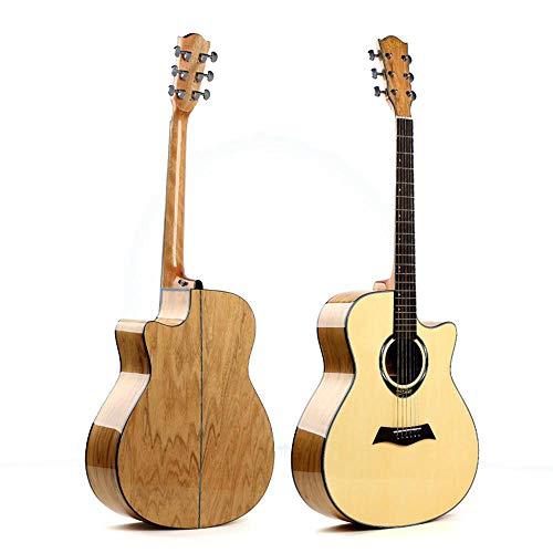 North King - Guitarra acústica para Principiantes, Guitarra Folk, 53 Pulgadas, Esquina Tipo A, pícea Rosa, Madera, Guitarra Junior