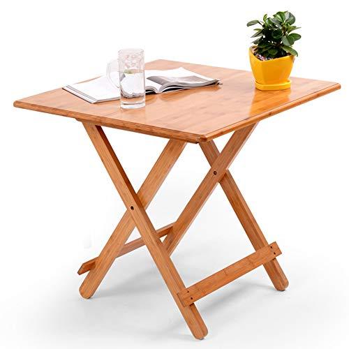 Tavolino pieghevole in bambù, tavolino da caffè per computer portatile, tavolino da salotto, patio, veranda, comodino, divano, tavolo da pranzo, tavolino portatile di piccole dimensioni per mangiare