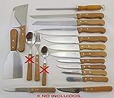 CUYFOR (QUTTIN) Conjunto Cuchillos Cocina Set 18 UD Natura