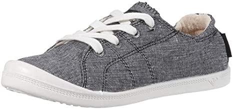 Roxy Women's Bayshore Slip On Sneaker Shoe, Black, 11