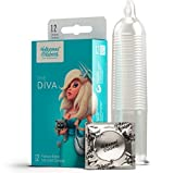 Hollywood Condoms The Diva Premium Ribbed Lubricated Condoms - 12 Count