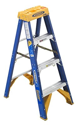 Werner Old Blue Electricians 375-Pound Duty Rating Fiberglass Stepladder/Jobstation by Werner Ladder