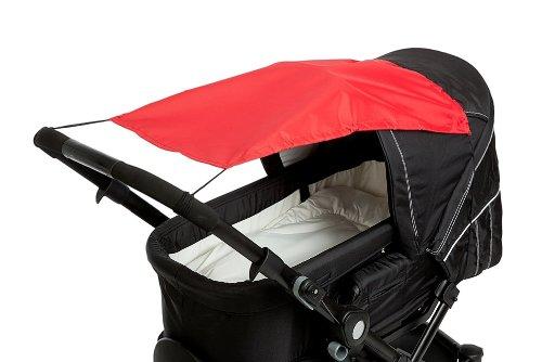 Altabebe AL7010 - 05 Sonnensegel mit UV Schutz für Kinderwagen/ Buggys, rot