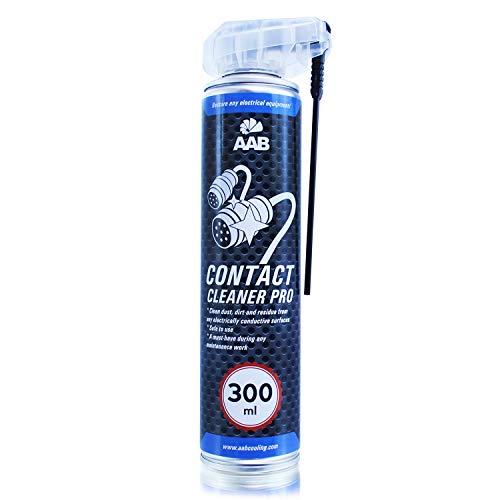 AAB Contact Cleaner PRO 300ml - Detergente per Contatti Elettrici – Spinotti Elettrici Auto, Spray Contatti, Antiossidante Circuiti Elettrici, Detergente Contatti, Contact Cleaner