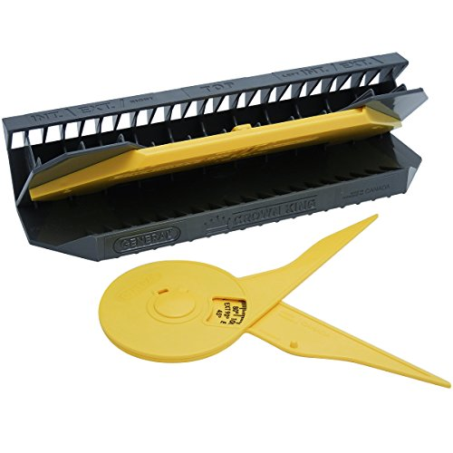 General Tools 881 E-Z Pro Crown King Molding Jig with Protractor