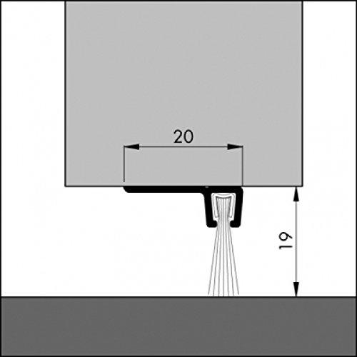 DIWARO® Türbodendichtung, Türdichtung, Bodendichtung, Tordichtung, Bürstendichtung | Länge 1m | aluminium pressblank | geeignet als Türdichtung zum Schutz vor Kälte und hohen Heizkosten.