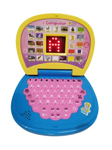 Educational Computer Laptop with Led Screen for Kids English Learner Study Game Computer Notebook Toy for Kids.