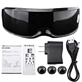 Electric Eye Massager, Vibration Magnetic Eye Wrinkle Fatigue Relief Massage Tool Rechargeable 7.5 x 2.6inch(Black)