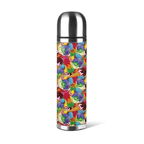 IJs Patroon (2) Geïsoleerde RVS Water Fles Dubbele Muur Water Fles 17oz Trel Thermische Fles