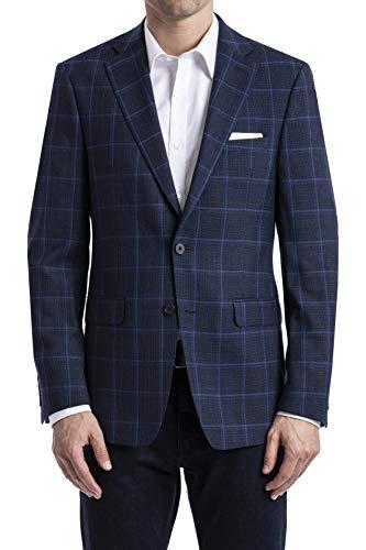 Calvin Klein Herren Mabry Blazer, Business/leger, Marineblaue Fensterscheibe, 46 Regulär