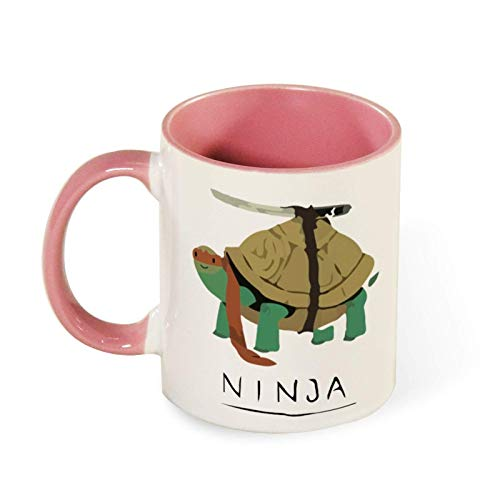 N\A Taza de cerámica para café, té, Regalo, Tortuga Ninja, Divertida Taza de café, 11 oz