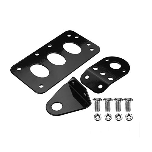 ZHANGWUNIU WUZ Store Motorcycle Cafe Racer Side Mount Tail Light Frame Number License Plate Bracket Black Universal Fit For Yamaha/Suzuki