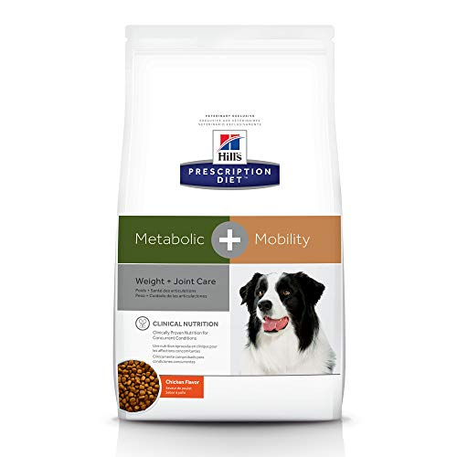 Hill's Prescription Diet Metabolic + Mobility, Weight + Joint Care Chicken Flavor Dry Dog Food, Veterinary Diet, 24 lb bag