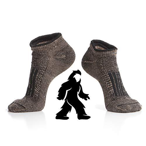 Wildside Wool Alpaca Hiking Socks, The Trail Runner, Ankle / No-show Height, lightweight, Micro-cushion, Made in USA, Medium