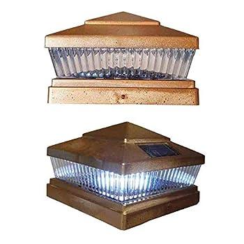 4 Pack Copper Square 6x6 Solar Powered LED Post Cap Lights PL248