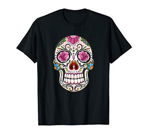 Sugar Skull mit Rosen. Halloween Totenkopf, Totenschädel.