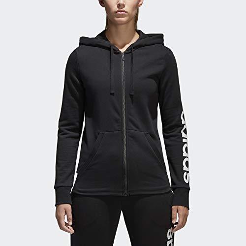 adidas Essentials Linear Sweat à Capuche zippé pour Femme XXS Noir/Blanc