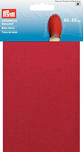 Prym 40x 55cm 0,22m SQ Espadrilles Basis Stoff, rot